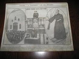 """Photo Sur Carton - ( Provient D'un Cadre ) Père ANTOINE """" Le Guerisseur """" (b239) - Religion & Esotérisme"""
