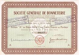 Action Ancienne - Société Générale De Bonneterie - Titre De 1950 - - Textiel