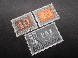CH ZNr.263/266/268 - PAX - 1945 - Z CHF 32.40 - Suisse