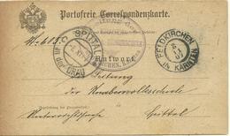 1907  Portofreie Correspondenzkarte  Antwortteil Von Feldkirchen Nach Spittal - Entiers Postaux
