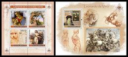 GUINEA BISSAU 2007 - Leonardo Da Vinci - YT 2420-3 + BF369 - Art