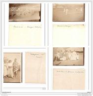 6293 AK/PC/4 X PHOTOS/ 1007/MADAGASCAR/COURSE DE SAC A GRANGEA ET FAMILLE /1906 - Madagascar