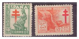 SPAGNA - 1946- PRO TUBERCOLOTICI. INCLUSO VALORE DI P.A. - MH* - 1931-Oggi: 2. Rep. - ... Juan Carlos I
