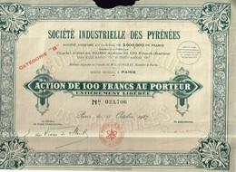 Action Ancienne - Société Industrielle Des Pyrénées - Titre De 1927 - - Industrie