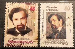 Macedonia, 2018,  Personalities: Milan  Firfov; Claude Debussy (MNH) - Macedonia