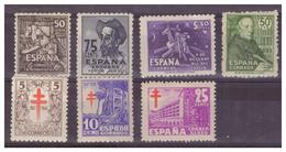 SPAGNA - 1947 -INSIEME DI VALORI DEL PERIODO CON DIFETTI IL SECONDO VALORE E' *. - MH*/ MNH** - 1931-Oggi: 2. Rep. - ... Juan Carlos I