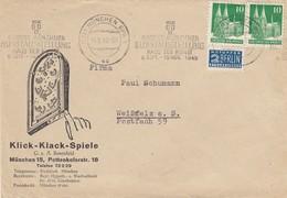 LETTRE ALLEMAGNE. NOTOPFER 2 BERLIN. MÜNCHEN. KLICK-KLACK-SPIELE  / 3 - American/British Zone