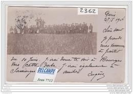 8286 AK/PC/CARTE PHOTO/2362 /PARIS /GROUPE MILITAIRES/1904 - Cartoline