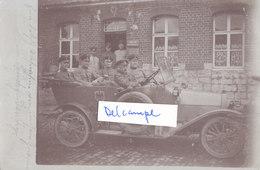 62 Sauchy Cauchy Auto Kommandantur Deutscher Soldat German Soldier 14-18 Ww1 - Francia