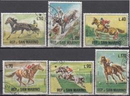 San Marino 1966 Michel 850 - 855 O Cote (2006) 0.80 Euro Hippisme Cachet Rond - Saint-Marin