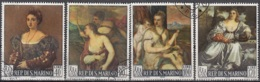 San Marino 1966 Michel 865 - 868 O Cote (2006) 0.70 Euro Tableaux De Tiziano Vecellio Cachet Rond - Saint-Marin