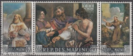 San Marino 1967 Michel 887 - 889 O Cote (2006) 0.60 Euro Tableaux De Giovanni Francesco Barbieri Cachet Rond - Saint-Marin
