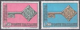 Italia 1968 Michel 1272 - 1273 Neuf ** Cote (2015) 1.00 Euro Europa CEPT - 1946-.. République