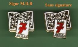 TELE 7 JEUX *** Lot De 2 Pin's Differents *** 0086 - Medias