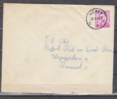 Brief Van Menen C1C Naar Brussel - 1953-1972 Glasses