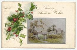 Christmas Wishes 1905 - Poststempel New York Naar Brussel - Noël