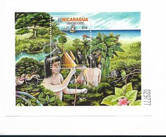 NICARAGUA 2002, NATIVE AMERICAN, DISCOVERY, COLUMBUS SHIPS, SCOTT 2366 SOUVENIR SHEET - Nicaragua