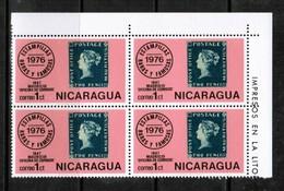 NICARAGUA  Scott # 1038** VF MINT NH CORNER BLOCK Of 4  LG-873 - Nicaragua