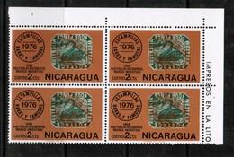NICARAGUA  Scott # 1039** VF MINT NH CORNER BLOCK Of 4  LG-874 - Nicaragua