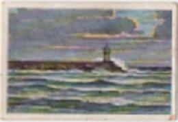 Zigarettenfabrik W. Lande Dresden: Deutschtum Im Ausland, Bild 1: Memel (Klaipeda, Lituania), Mole Mit Leuchtturm - Sigarette