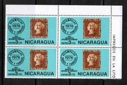 NICARAGUA  Scott # 1040** VF MINT NH CORNER BLOCK Of 4  LG-875 - Nicaragua