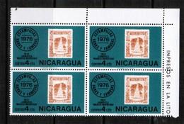 NICARAGUA  Scott # 1041** VF MINT NH CORNER BLOCK Of 4  LG-876 - Nicaragua