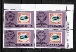 NICARAGUA  Scott # 1042** VF MINT NH CORNER BLOCK Of 4  LG-877 - Nicaragua