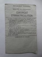 Carte Grise Certificat D'immatriculation Moto Yamaha 1977 Val De Marne - Documents Historiques