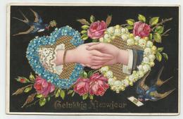 Nieuwjaar Nouvel An 1910 Reliëf Dorures - Neujahr