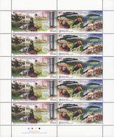 Malaysia 2018-10 Sabah Full Sheet MNH (strip) Train Fauna Bird Marine Coral Mountain - Malaysia (1964-...)