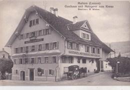 Carte Postale : Malters (Luzern Suisse)  Gasthaus Und Metzgerei Zum Kreus   Weber - LU Lucerne