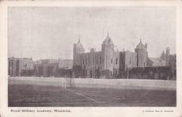 WOOLWICH -ROYAL MILTARY ACADEMY.  ADVERT  CARD FOR MOLYNEUX BROS. - London Suburbs