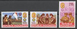 Indonesia 1986 Mi# 1201-03** NATIONAL SCOUT JAMBOREE, JAMNAS '86 - Indonésie