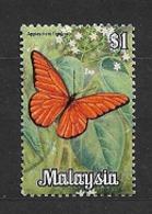 MALAYSIA      1970 Butterflies   -  Appias Nero    USED - Malaysia (1964-...)