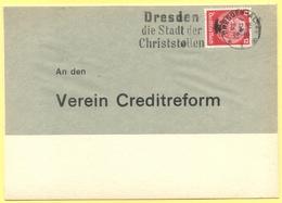 Deutsches Reich - 1933 - 12 + Flamme Dresden Die Stadt Der Christstollen - An Den Verein Creditreform - Fragment Over Pa - Germania