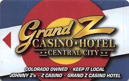 Grand Z Casino - Central City, CO - Hotel Room Key Card - Hotel Keycards