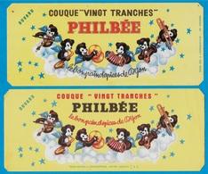 """Buvard Pain D'épices PHILBEE (Lot De 2 Différents) COUQUE """"VINGT TRANCHES"""" 21 DIJON - Food"""