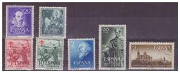 SPAGNA - INSIEME DI FRANCOBOLLI DEGLI ANNI '50 CON DIFETTI.-MNH** - 1931-Oggi: 2. Rep. - ... Juan Carlos I