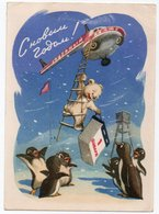RUSSIA/RUSSIE - STATIONERY/ENTIER NEW YEAR/ HELICOPTERT /BEAR /NORTH POLE-ANTARCTIC/ PENGUIN - NOVOROSSIJSK-1959 - Russia