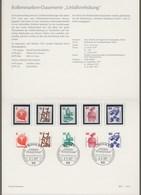 "Bund: Minister Card - Ministerkarte Typ IV, Mi-Nr. 694, 695, 697, 698, 701: "" Dauerserie Unfallverhütung "" !           X - [7] Repubblica Federale"