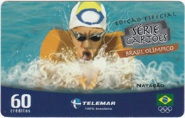 Brazil - BR-TLM-MG-2013, 08/34 - 0150, Event, Swimming, 60U, 30,960ex, 4/04, Used - Jeux Olympiques