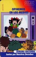 TARJETA TELEFONICA DE VENEZUELA. SEMANA NACIONAL 2/4, Opinemos En Los Medios 05.98, VE-CAN2-0347 (721) - Venezuela