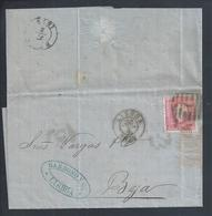 Carta Expedida De Lisboa Para Beja Em 1875 Selo De 25 Réis De D.Luíz. Letter Sent Lisbon To Beja Stamp 25 R. 2 Scn.Rare - Cartas
