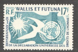 1958  10è Anniv. Déclaration Des Droits De L'homme  Yv 160** - Wallis And Futuna