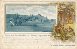 SAARBRÜCKEN / St. Johann  - 1901 , Spicherer Höhe - Prägekarte - Unclassified