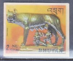 BHUTAN  126 C   *  3 D  STAMP  SHE-WOLF  ROMULUS & RENUS - Sculpture