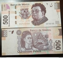 O) 2013 MEXICO, BANKNOTE 500 PESOS -MXN, DIEGO RIVERA, FRIDA KHALO, PAINTING EL ABRAZO DE AMOR DEL UNIVERSO, PAPER MONEY - Mexico
