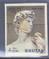 BHUTAN  126 E   *  3 D  STAMP  HEAD  OF  DAVID - Sculpture