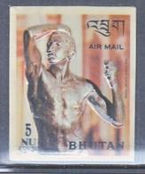 BHUTAN  126 F   *  3 D  STAMP  BRONZE  BY  RODIN - Sculpture
