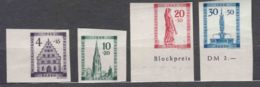 Germany French Zone Baden 1949 Mi#38-41 B Mint Hinged (first Two) Mint Never Hinged (last Two) - Zone Française